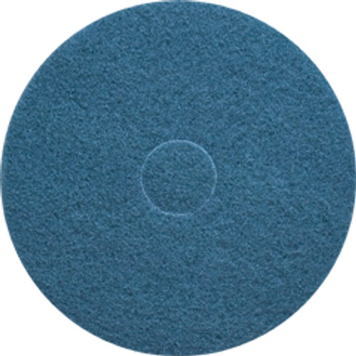 Blue Scrub Floor Pads 13 inch standard speed up to 350 rpm case of 5 pads by Cleaning Stuff 13BLUE GW