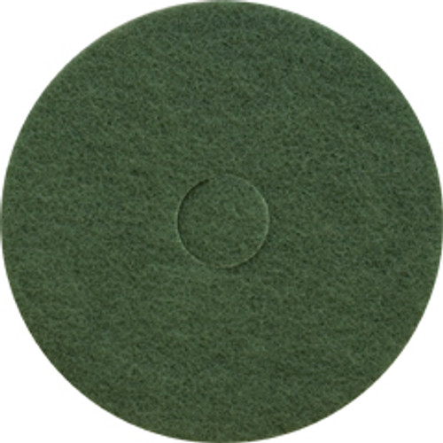 Green Scrub Floor Pads 13 inch standard speed up to 350 rpm case of 5 pads by Cleaning Stuff 13GREEN GW