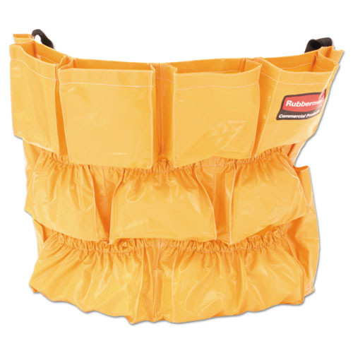 Rubbermaid 2642yel Brute caddy bag yellow fits 32 and 44 gallon trash cans replaces rcp2642yel rcp264200yw