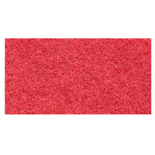 Red Floor Pads Clean and Buff 12x18 inch rectangle standard speed up to 800 rpm case of 5 pads by Cleaning Stuff 1218RED GW