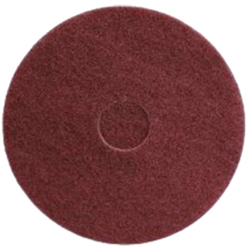 Maroon Strip Floor Pads 17 inch standard speed up to 350 rpm chemical free wet or dry strip case of 10 pads by Cleaning Stuff 17MAROON GW