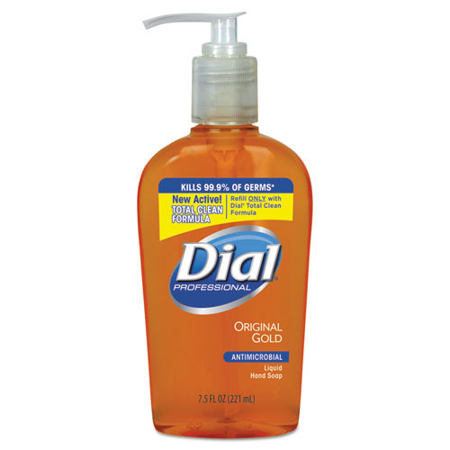 Dial Antibacterialrobial handsoap 7.5oz pump bottle case of 12 DIA84014CT