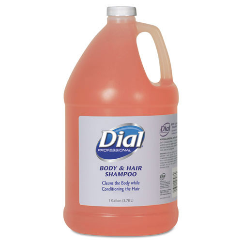 Dial Total Body Shampoo one gallon pump bottles case of 4 gallons Dia03986