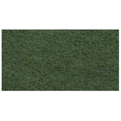 Green Scrub Floor Pads 14x20 inch rectangle standard speed up to 350 rpm case of 5 pads by Cleaning Stuff 1420GREEN GW