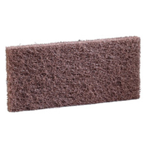 3M SPP4.625X10 ScotchBrite Surface Preparation rectangle pads 4.625X10 inch maroon for removing floor finish without chemicals before recoating case of 20 pads gw