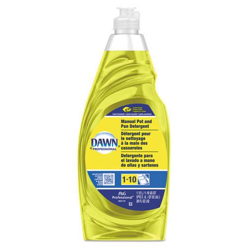 Dawn manual dishwashing liquid for pots and pans lemon scent 38oz bottle case of 8 PGC45113