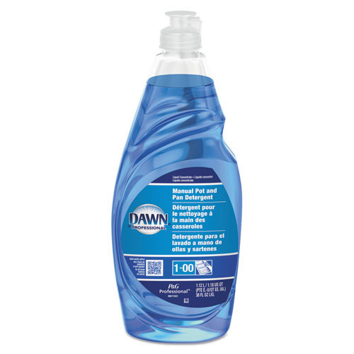 Dawn manual dishwashing liquid for pots and pans regular scent 38oz bottle case of 8 PGC45112CT