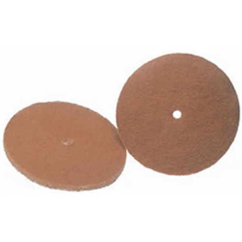 Koblenz 4501052 6 inch tan cleaning pads for Koblenz shampoo polisher floor scrubber machines set of 2 pads