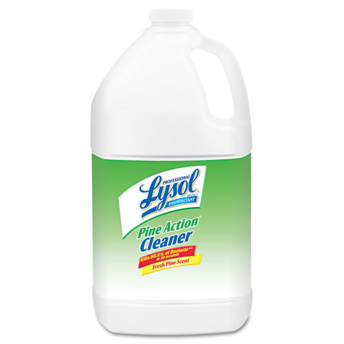 Liquid disinfectant deodorizer Lysol pine action cleaner one gallon size case of 4 replaces rec02814 rac02814ct