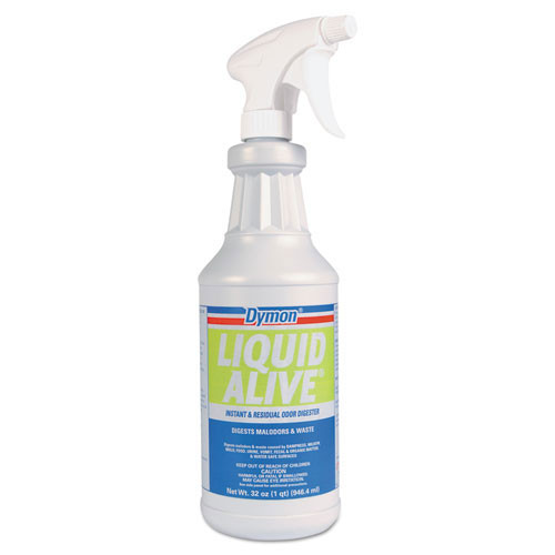 Dymon liquid Alive enzyme mold remover bulk odor digester 32oz size case of 12 replaces DYM33632 ITW33632