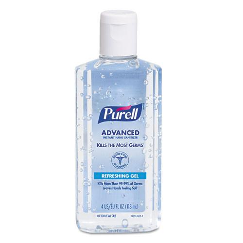 Purell hand sanitizer goj965124 portable 4.25oz bottle Gojo case of 24 bottles replaces goj9651