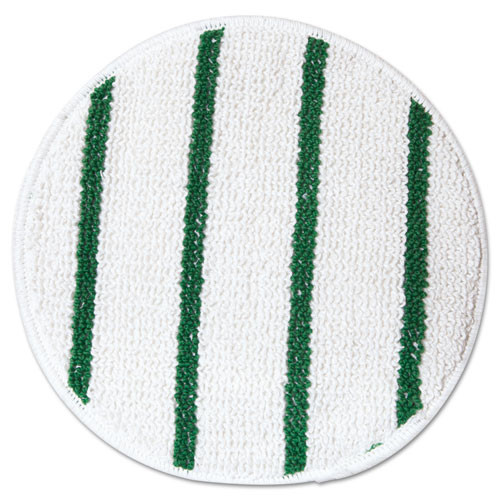 Rubbermaid p267 carpet bonnet for 16 or 17 inch floor buffer low profile with green stripes spin klean