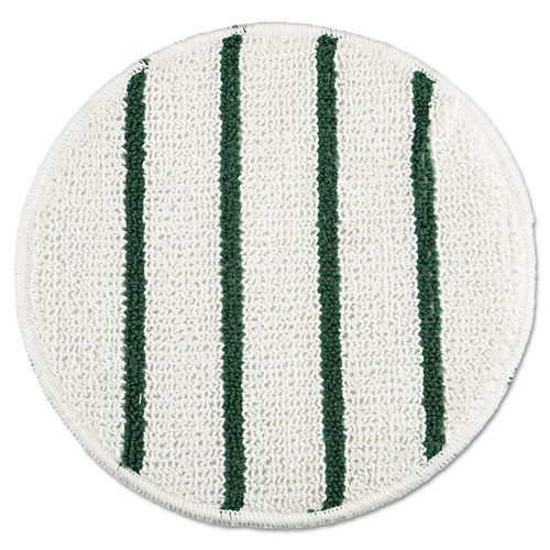 Rubbermaid p271 carpet bonnet for 20 or 21 inch floor buffer low profile with green stripes spin klean