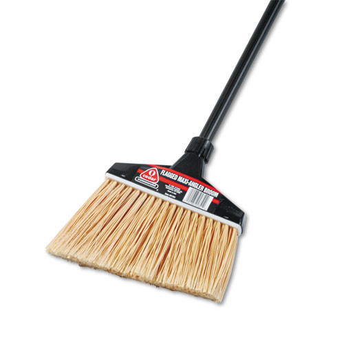 Ocedar maxiangler broom plastic bristles vinyl coated aluminum handle 51 inches case of 4 brooms replaces dvo91351 ocedar dvo91351ct
