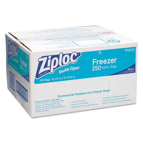 Ziploc freezer bags 1 gallon 2.7 mil case of 250 bags SJN682258 replaces DVO94604