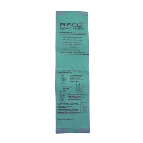 25 Bissell U8000PK25 vacuum bags for BGU8000 standard filtration pack of 25 bags