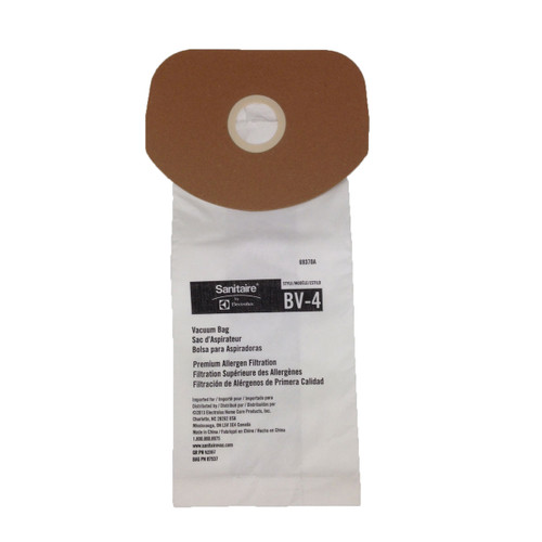 50 Electrolux 69370 Sanitaire style BV4 vacuum bags for SC420 69370a10 GW