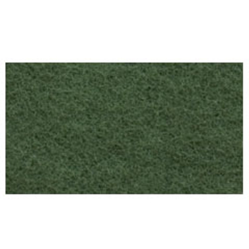 Green Scrub Floor Pads 14x28 inch rectangle standard speed up to 350 rpm case of 5 pads by Cleaning Stuff 1428GREEN GW