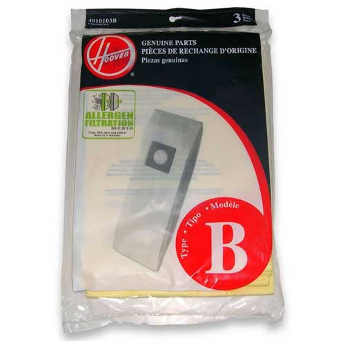3 Hoover 4010103B Type B vacuum bags allergen filtration for CH53000 vacuum cleaner pack of 3