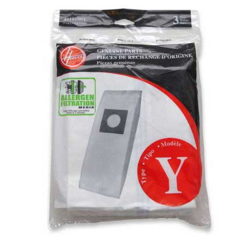 3 Hoover 4010100Y Type Y vacuum bags allergen filtration for CH53005 and C1703900 vacuum cleaner pack of 3