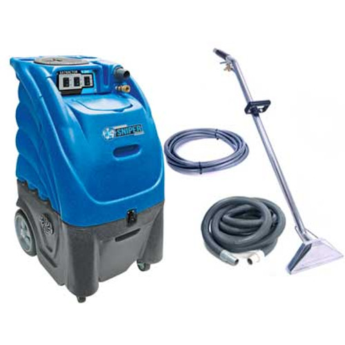 Sandia Sniper carpet extractor 803100h0500 12 gallon canister with heater dual 3 stage vac motors 100psi pump