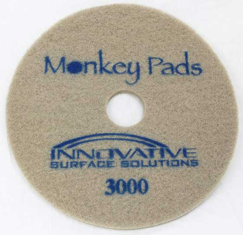 Monkey Diamond Floor Pads 20 inch 3000 grit blue for polishing stone or concrete case of 5 pads 20MP3000 GW