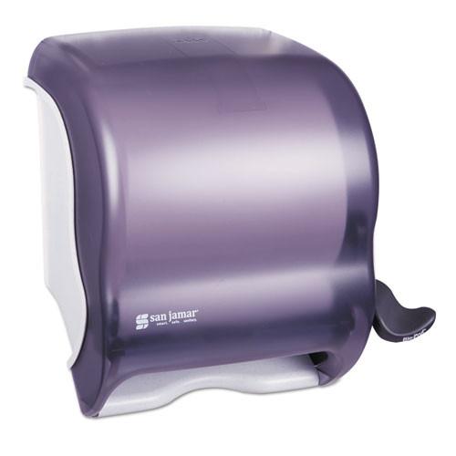 San Jamar SJMT950TBK paper hand towel dispenser lever black plastic