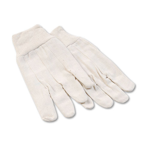 Boardwalk BWK7 gloves cotton canvas mens gloves clute cut mens size large 6 pairs of gloves replaces glx7