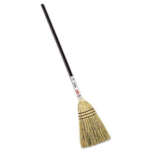 Rubbermaid rcp6373bro lobby corn fill broom, 38 inch handle, brown