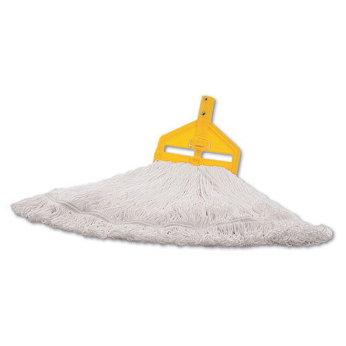 Rubbermaid rcpt20106 finish mop heads, nylon, white, large