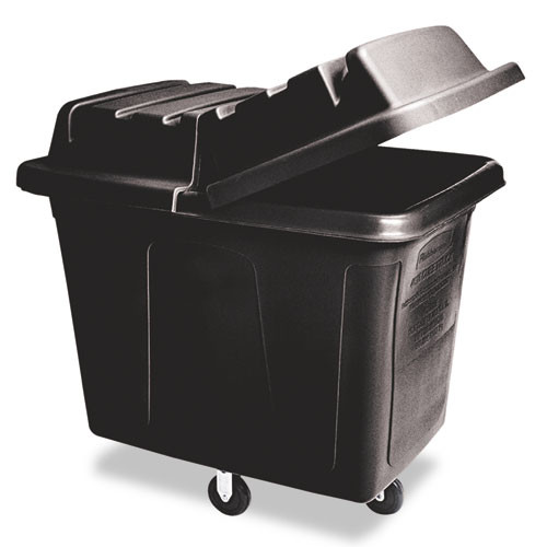 Rubbermaid 4612bla cube utility truck 12 cubic feet 400 lb. black replaces rcp4612bla rcp461200bla