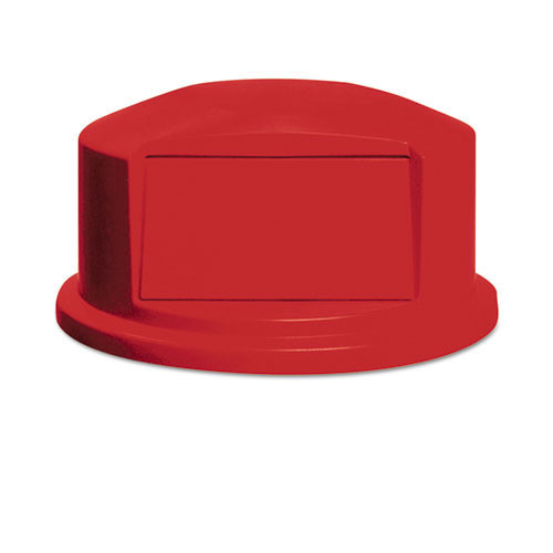 Rubbermaid rcp264788red round Brute dome top with push door, 24 13 16 x 12 5 8, red