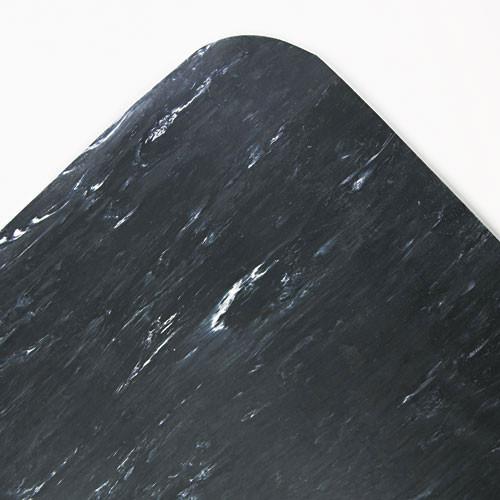 Crown cwncu3660bk cushion step surface mat, 36 x 60, marbleized rubber, black