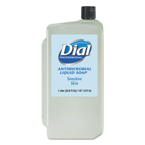 Dial DIA82839 antimicrobial soap for sensitive skin, 1000ml refill 8 carton