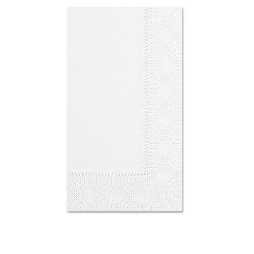 Hfm180500 dinner napkins, 2 ply, 15 x 17, white, 1000 carton