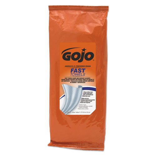 Gojo goj628506 fast towels hand cleaning towels, white, 60 pack, 6 packs carton