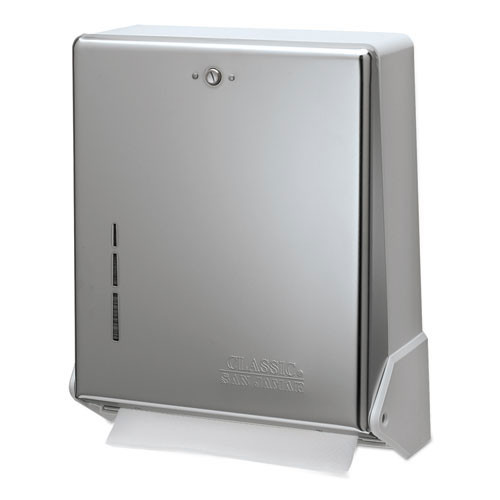 San Jamar SJMT1905XC paper hand towel dispenser true fold metal front cabinetc fold multifold chrome