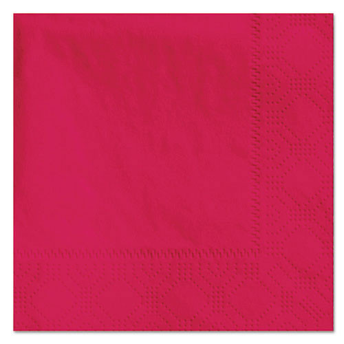 Hfm180311 beverage napkins, 2 ply, 9 .5 x 9 1 2, red, 1000 carton