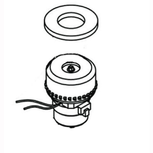 Sandia 100354COM motor with gasket for Sniper 3 gallon spotter carpet extractor