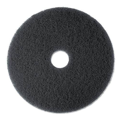 3M 7300 High Productivity Black Strip floor pads 16 inch for