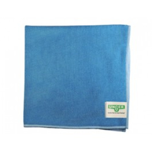 Unger MF40B blue microfiber cloths MicroWipe 4000 heavy duty 16x15 launderable for dusting, polishing, scrubbing pack of 10 cloths GW