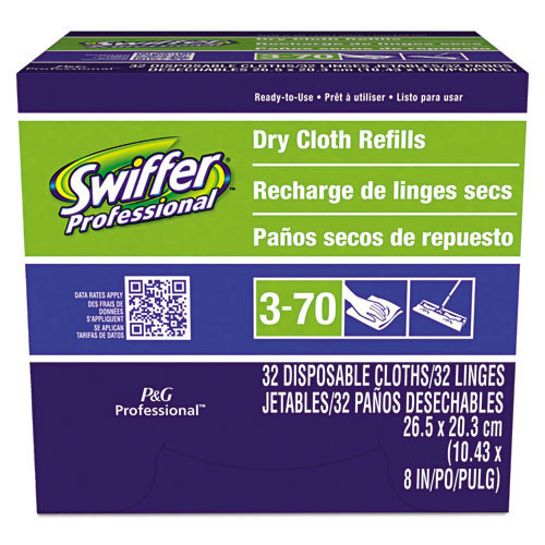 Swiffer dust mop refill 33407 disposable max refill cloths fits 10 inch sweeper frame 192 cloths per case