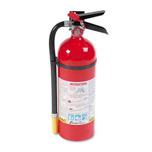 Fire extinguisher dry charge weight 5 lbs a b c replaces kdd433112 kidde kid466112