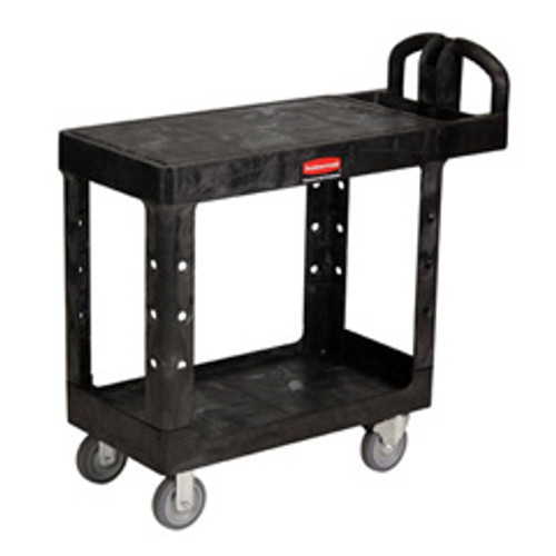 Rubbermaid 4505bla flat shelf utility cart 500 lb. capacity 38x19 black replaces rcp4505bla rcp450500bk