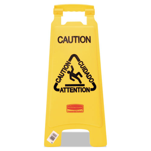 Rubbermaid 6112yel floor sign caution 25 inch yellow replaces rcp6112yel rcp611200yw