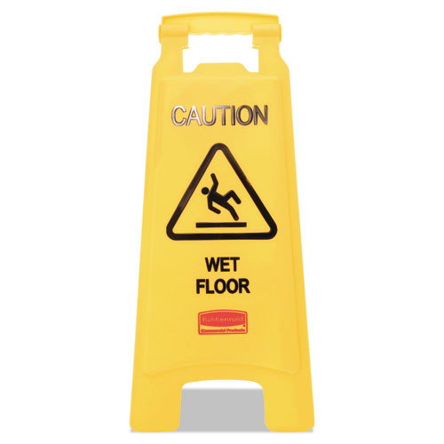 Rubbermaid 611277yel floor sign wet floor 25 inch yellow replaces rcp611277yel rcp611277yw