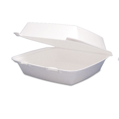 Carryout containers foam hinged lid containers large single compartment