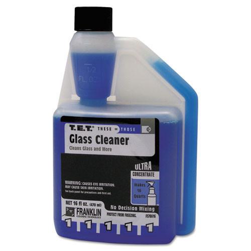Franklin fklf378616 tet number 1 glass cleaner concentrate 16oz size case of 2 bottles makes 32 quarts rtu replaces frkf378616