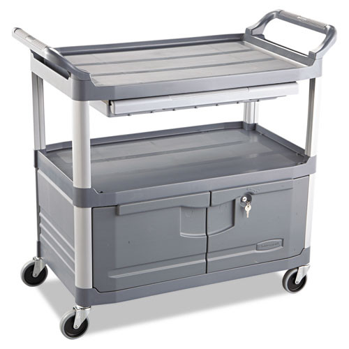 Rubbermaid 4094gra instrument cart 4094 rcp4094gra 300 lb capacity 40x20 gray