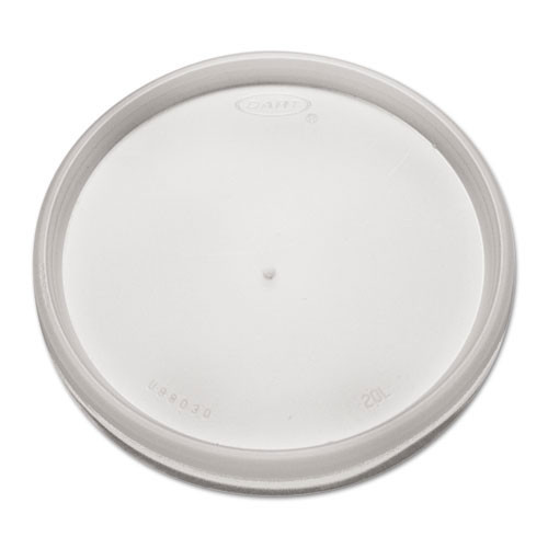 Lid for foam containers translucent vented dart case of 1000